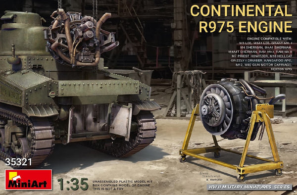 1/35 MINIART CONTINENTAL R975 ENGINE MA35321
