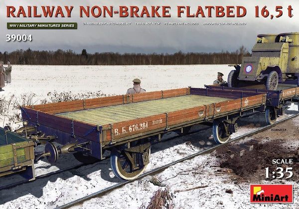 1/35 MINIART RAILWAY NON-BRAKE FLATBED 16.5T MA39004