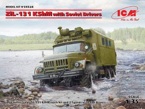 1/35 ICM ZIL-131 KSHM WITH SOVIET DRIVERS ICM35524