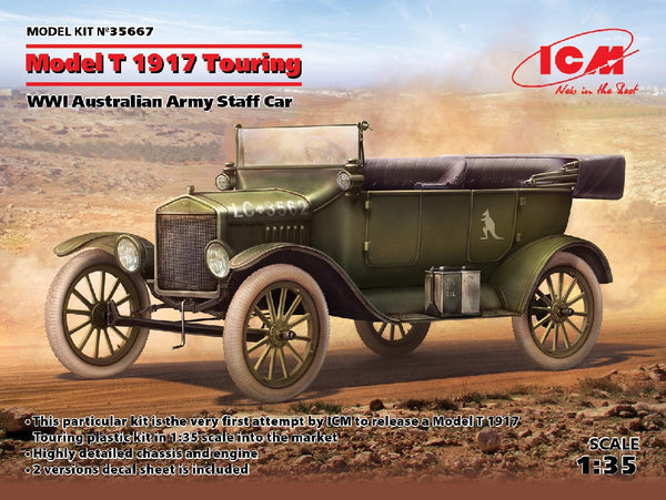 1/35 ICM MODEL T 1917 TOURING WW1 AUSTRALIAN STAFF CAR ICM35667