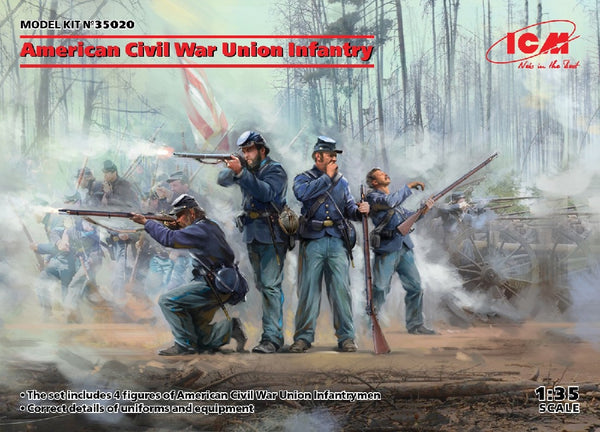 1/35 ICM AMERICAN CIVIL WAR UNION INFANTRY ICM35020
