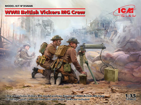 1/35 ICM WW2 BRITISH VICKERS MG CREW ICM35646
