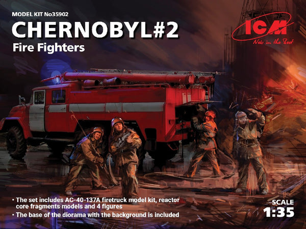 1/35 ICM CHERNOBYL #2 FIRE FIGHTERS SET ICM35902