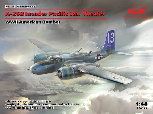 1/48 ICM A-26B INVADER PACIFIC WAR THEATER ICM48285