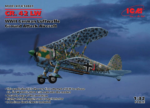 1/32 ICM CR.42 LW WW2 GERMAN GROUND ATTACK AIRCRAFT ICM32021