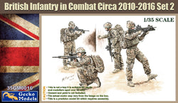 1/35 GECKO MODELS BRITISH INFANTRY IN COMBAT CIRCA 2010-2016 SET 1 35GM0015