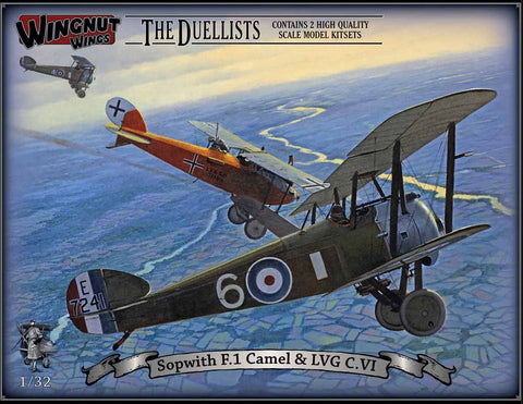 "1/32 WINGNUT WINGS ""THE DUELISTS"" SOPWITH F.1 CAMEL &LVG C.VI"