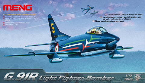 1/72 MENG G.91R LIGHT FIGHTER BOMBER  DS-004