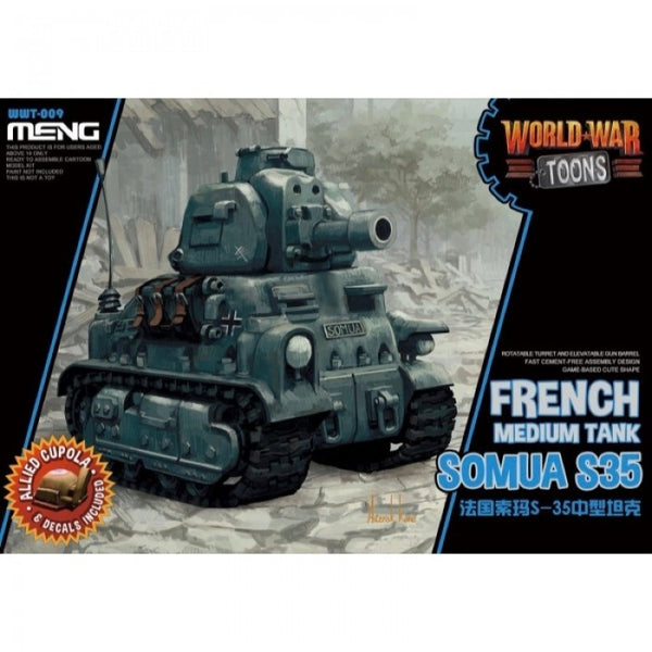 MENG WORLD WAR TOONS FRENCH SOMUA S-35 WWT-009