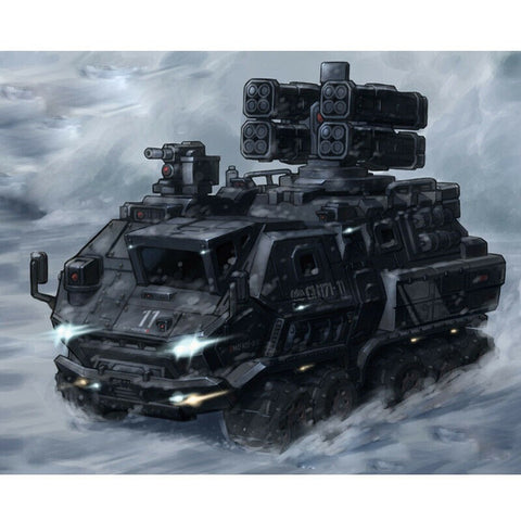 "MENG MILITARY TRUCK FROM ""THE WANDERING EARTH"" SERIES. SNAP KIT MMS-010"