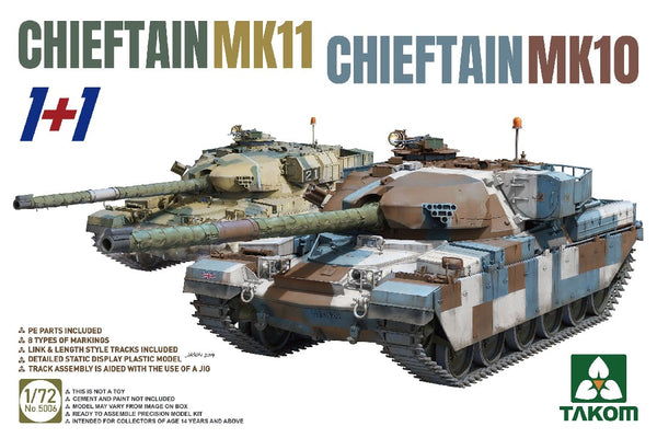 1/72 TAKOM CHIEFTAN MK10 & MK 11 2 KITS IN BOX TAK5006