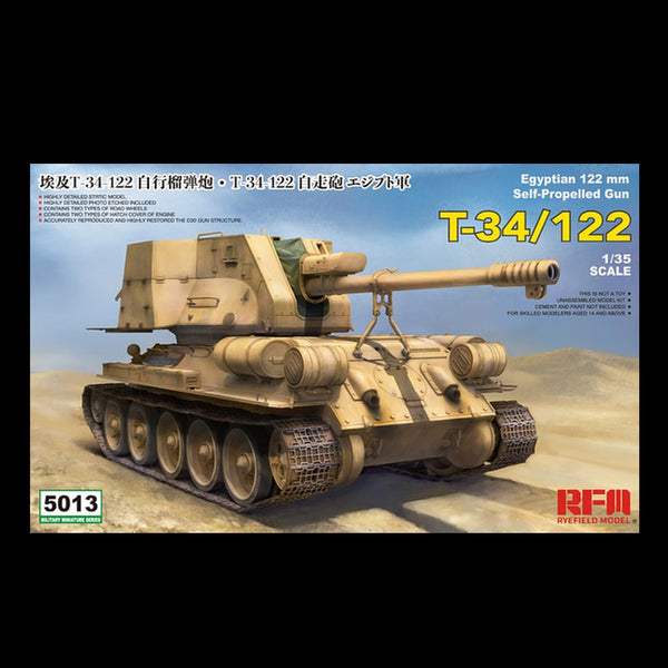 1/35 RYEFIELD MODELS T-34/122 EGYPTIAN 122MM SPG 5013