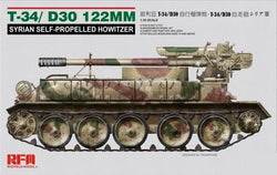 1/35 RYEFIELD T-34/D30 122MM SYRIAN SELF PROPELLED HOWITZER RFM5030