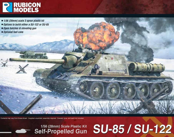 1/56 RUBICON MODELS SU-85/SU-122 SELF PROPELLED GUN RU28R03