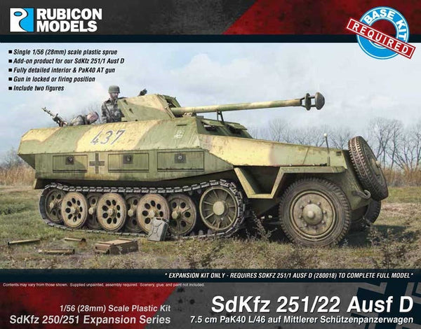 RUBICON 1/56 SDKFZ 251/22 AUSF D EXPANSION SET RU28G18