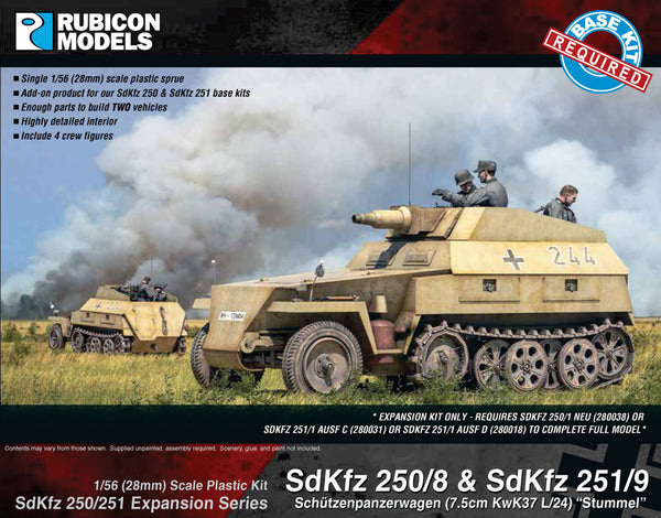 RUBICON 1/56 SDKFZ 250/8 OR 251/9 STUMMEL UPGRADE SET RU28G20