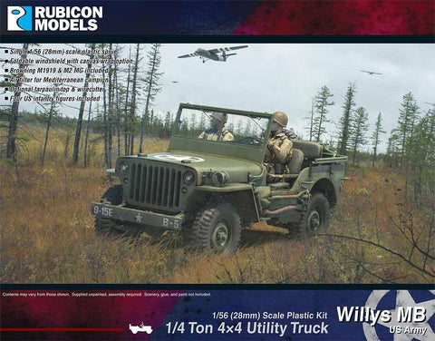 1/56 RUBICON MODELS WILLYS MB JEEP RU28A10
