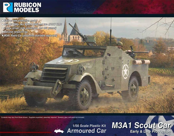 1/56 RUBICON MODELS M3A1 SCOUT CAR EARLY & LATE PRODUCTION RU28A19