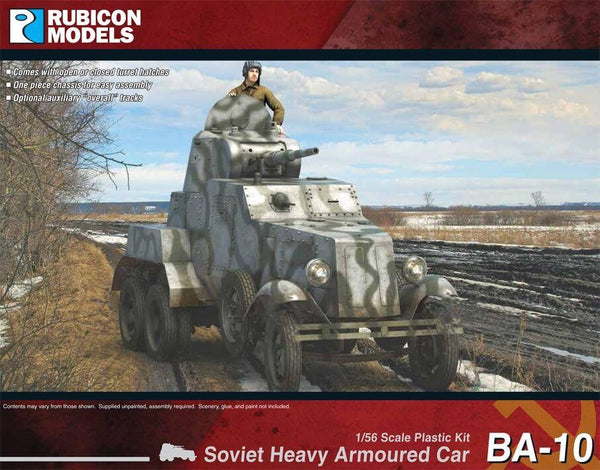 1/56 RUBICON MODELS BA-10 SOVIET HEAVY ARMOURED CAR RU28R10