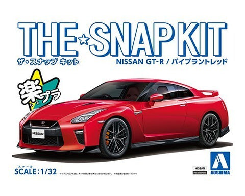 1/32 AOSHIMA NISSAN GT-R SNAP KIT - VIBRANT RED A005825