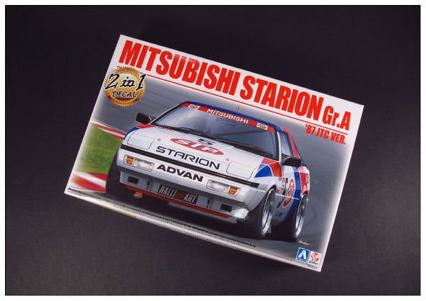 "1/24 BEEMAX AOSHIMA MITSUBISHI STARION GR.A 1987 JTC VERSION ""2 IN 1 DECALS"" B24023"