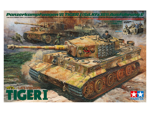 1/35 TAMIYA TIGER 1 LATE VERSION W/ TIGER ACE AND CREW SET  T25401