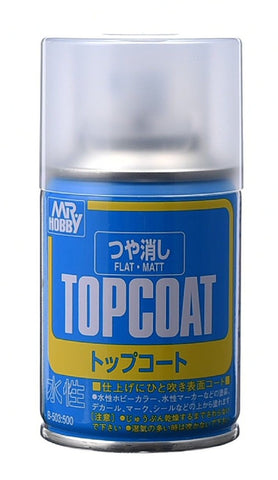 MR TOPCOAT GLOSS FLAT  SPRAY GN B503