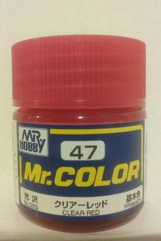 MR COLOUR   GLOSS  CLEAR RED GN C047