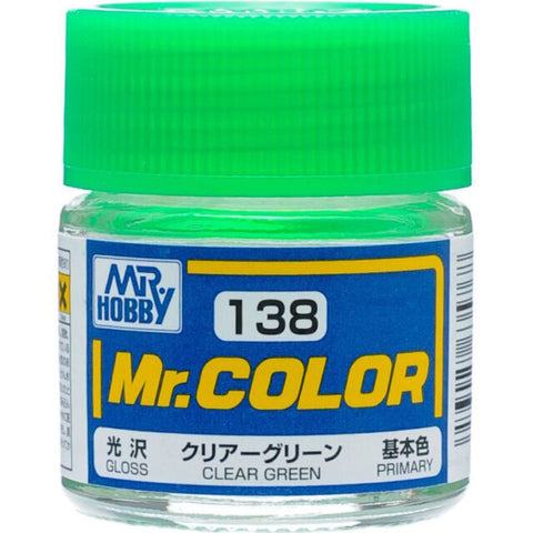 MR COLOUR   GLOSS  CLEAR GREEN GN C138