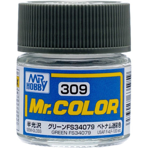 MR COLOUR SEMI  GLOSS GREEN FS34079 GN C309