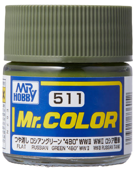 MR COLOR RUSSIAN GREEN 4BO WW2 10ML GN C511