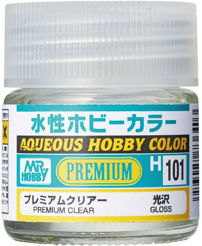 MR HOBBY AQUEOUS PREMIUM CLEAR GLOSS WATER BASED ACRYLIC PAINT GN H101