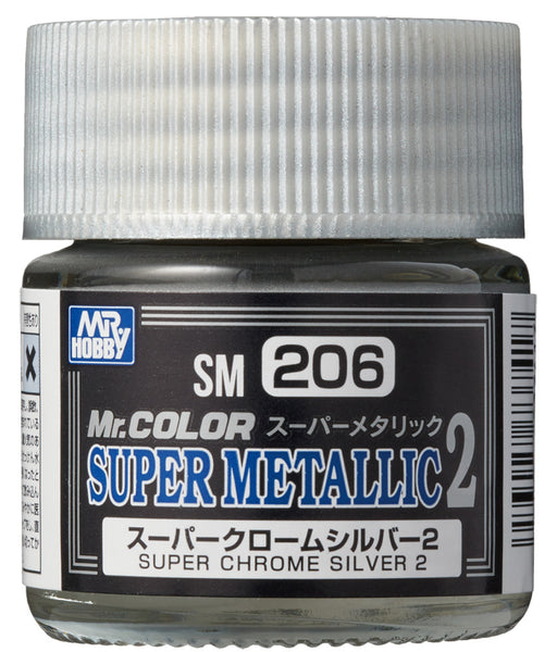 MR COLOUR SUPER METALLIC 2 CHROME SILVER 2 10ML GN SM206