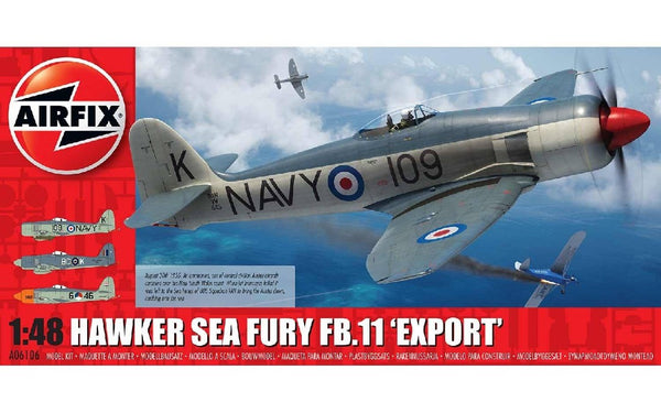 "1/48 AIRFIX HAWKER SEA FURY FB11 ""EXPORT"" A06106"