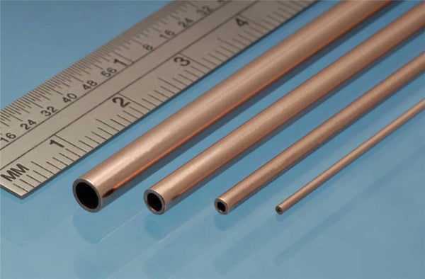 ALBION ROUND COPPER TUBE 3.0MM X 305MM X 0.45MM WALL (4 PCES) CT3M