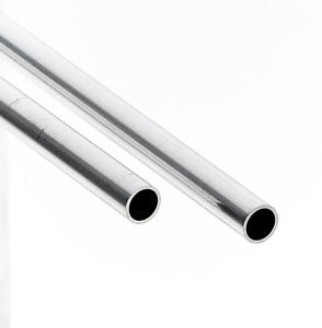ALBION ROUND ALLUMINIUM TUBE 4.0MM X 305MM X 0.45MM WALL (3 PCES) ALB-AT4M