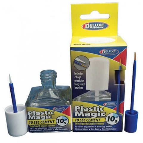 DELUXE MATERIALS PLASTIC MAGIC 10 SEC THIN CEMENT 40ML DM-AD83