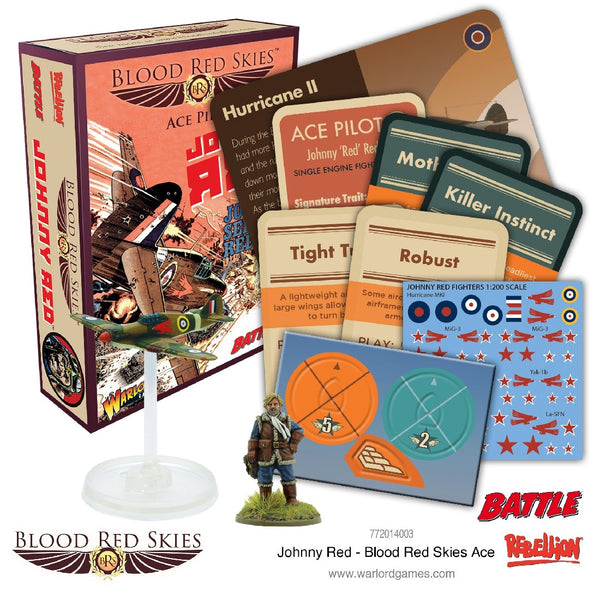 BLOOD RED SKIES ACE PILOT JOHNNY RED 772014003