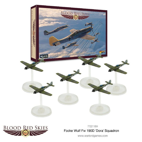 "BLOOD RED SKIES: FOCKE WULF FW-190D ""DORA"" SQUADRON 772211004"