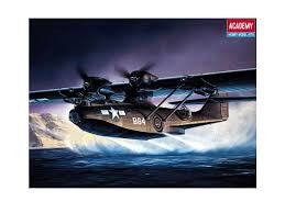 1/72 PBY5A CATALINA BLACK CAT WITH  AUST DECALS ACA-12487