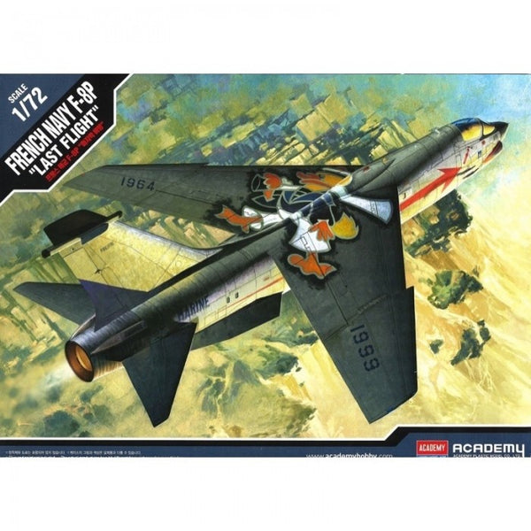 "1/72 ACADEMY FRENCH NAVY F-8P CRUSADER ""LAST FLIGHT"" ACA-12559"