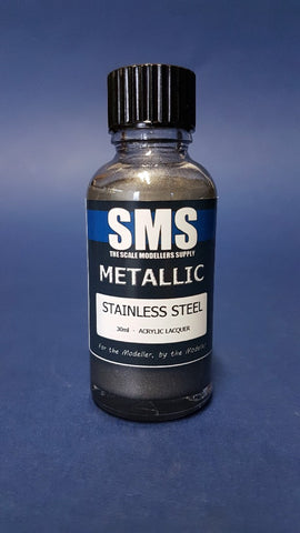 SMS METALLIC STAINLESS STEEL PREMIUM ACRYLIC LACQUER 30ML PMT05