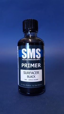 SMS PRIMER SURFACER BLACK PREMIUM ACRYLIC LACQUER 50ML PLP02