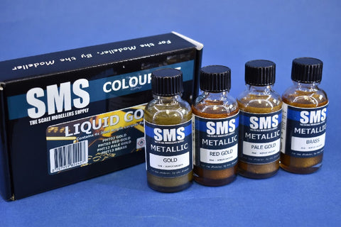 SMS PAINTS LIQUID GOLD COLOUR SET SET07