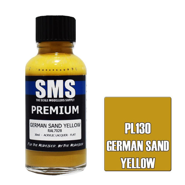 SMS GERMAN SAND YELLOW (LATE WAR) RAL7028 PREMIUM ACRYLIC LACQUER 30ML PL130