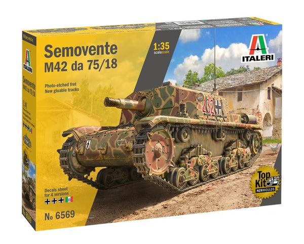 "1/35 ITALERI SEMOVENTE M42 DA 75/18 ""NEW MOULD"" TA6569"