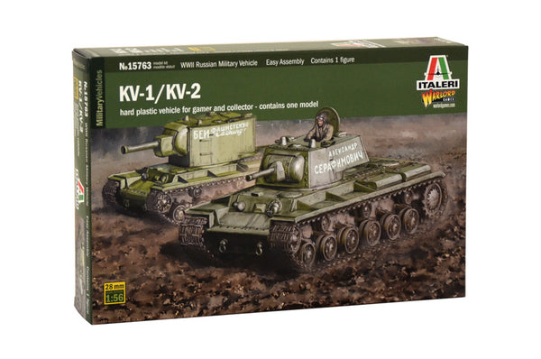 1/56 ITALERI KV1/KV2 INCLUDING COMMANDER. ITA-15763