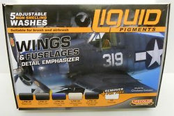 LIFE COLOUR LIQUID PIGMENTS WINGS & FUSELAGES DETAIL EMPHASIZER  LP06