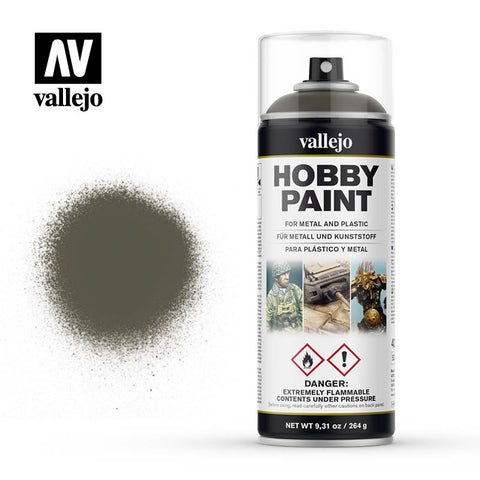 VALLEJO AEROSOL PAINT RUSSIAN GREEN 4BO HOBBY SPRAY PAINT 400ML AV28003