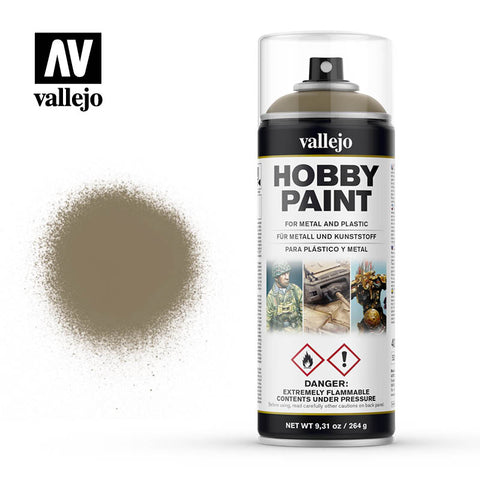VALLEJO AEROSOL PAINT US KHAKI HOBBY SPRAY PAINT 400ML AV28009